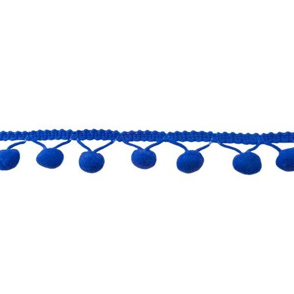 Bommelborte uni kobaldblau 24 mm