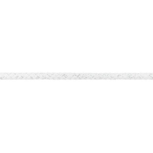 Dicke Glitzer Kordel rund uni weiß / silber 10 mm breit