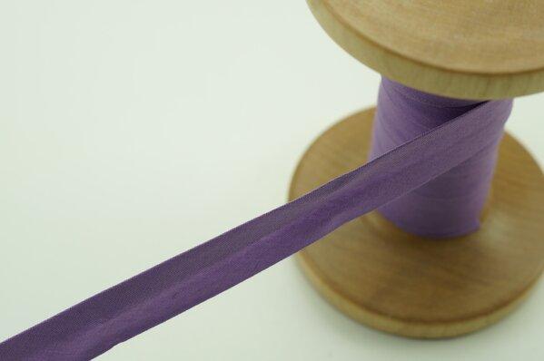 Schrägband Baumwolle 1,5 cm breit uni lila 1 m