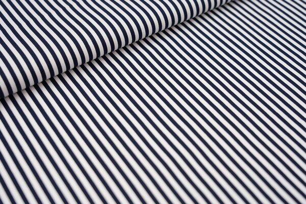 Baumwolle Streifen Ringel dunkelblau / weiß maritim