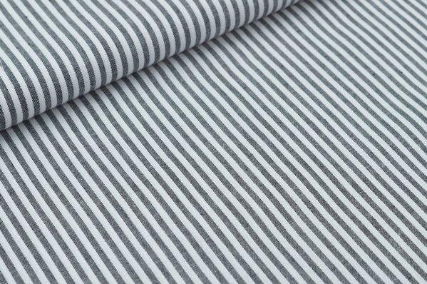 Baumwollstoff Baumwolle Streifen schwarz / weiß meliert