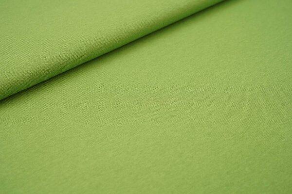 Glattes Glitzer Bündchen hellgrün mit silber