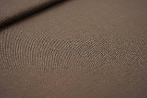 Bambus-Jersey uni taupe schlammbraun
