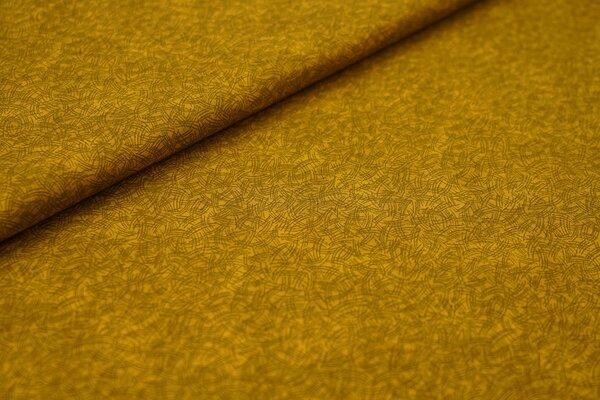 Baumwollstoff aus Dänemark Strichmuster Colour Harmony auf senf ocker