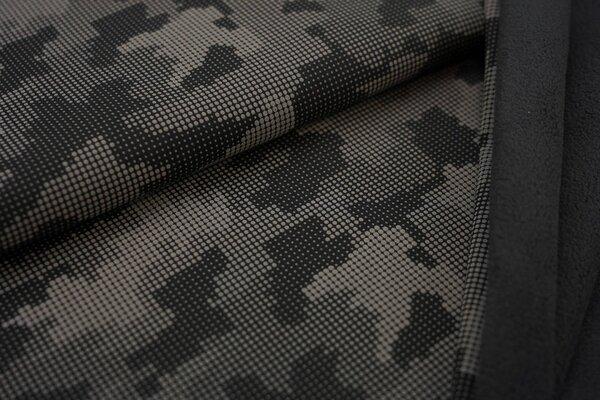 Softshell schwarz mit reflektierenden grauen Punkten