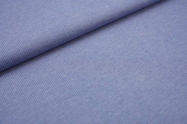 XXL Bündchen LILLY gerippt Schlauchware taupe blau meliert