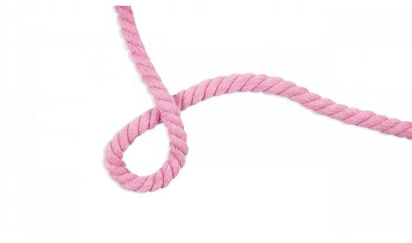 Dicke Baumwoll-Kordel gedreht rund uni hell pink 10 mm breit