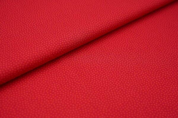 Baumwolle Swafing Dotty kleine unregelmäßige Punkte rot / hellrot