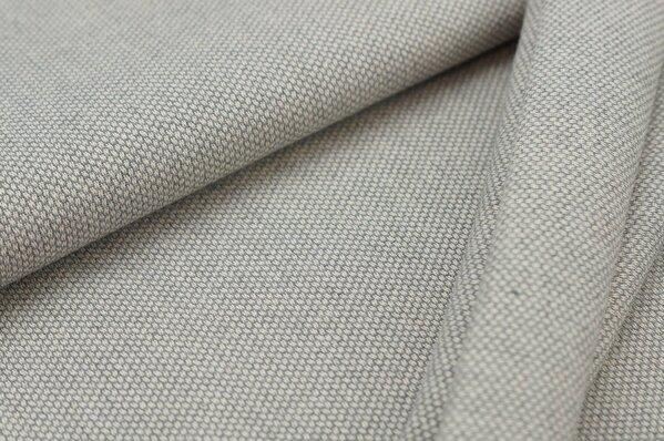 Canvas-Stoff Dekostoff Muster mit kleinen Vierecken grau / weiß