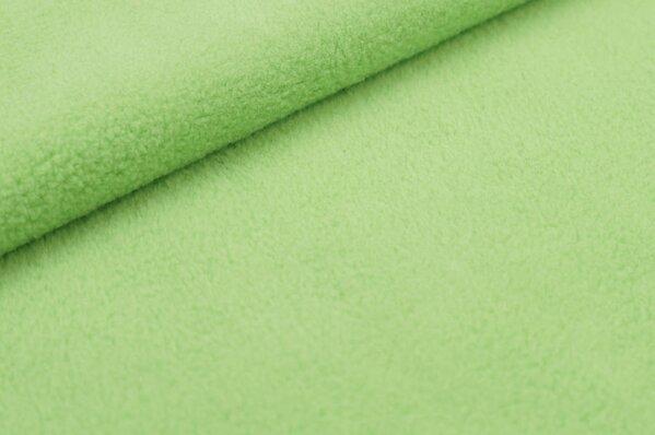 Baumwoll-Fleece uni hellgrün