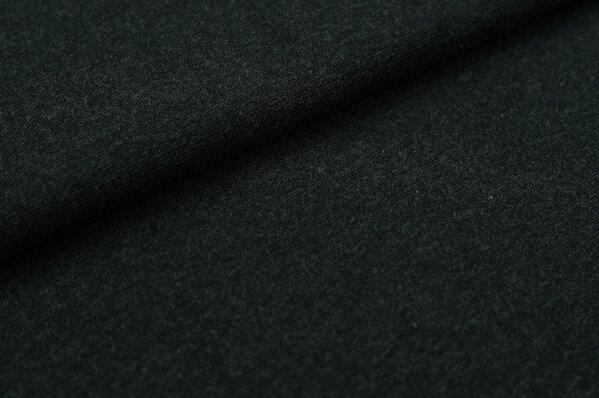 XXL Bündchen Maya glatt Schlauchware sehr dunkelgrau melange