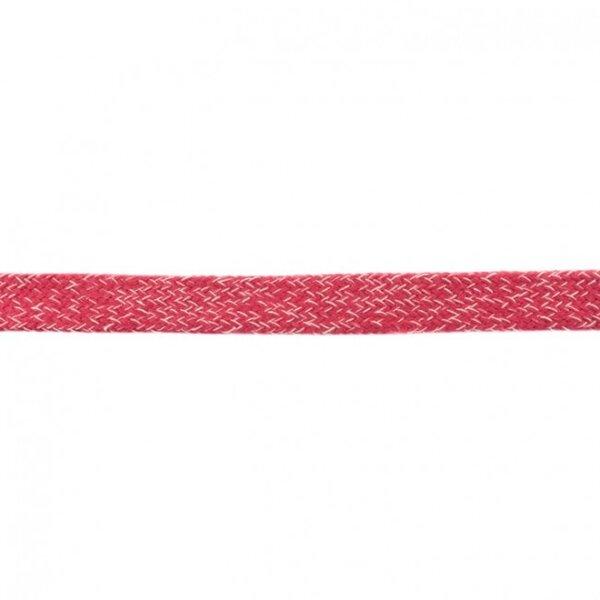 Kordel flach rot meliert 20 mm breit