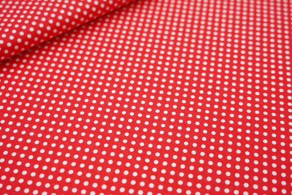 Baumwollstoff weiße Punkte auf rot maritime Baumwolle