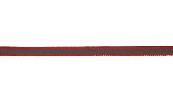 Reflektierendes Band rot / silber 10 mm Reflektionsband Reflektorband