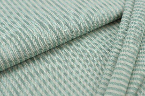 Canvas-Stoff Dekostoff Streifen Linien-Muster altmint / weiß