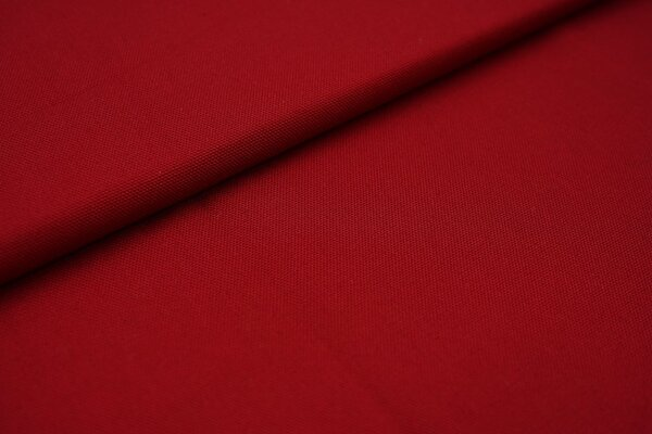 Canvas-Stoff Dekostoff einfarbig uni bordeaux weinrot