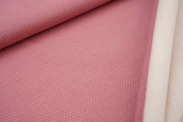 Jacquard-Sweat mit Kästchen-Muster und kuscheliger Innenseite altrosa / weiß