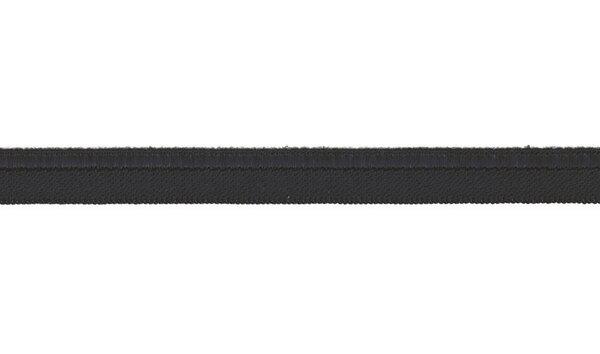 Elastisches Schimmer Paspelband anthrazit dunkelgrau 10 mm