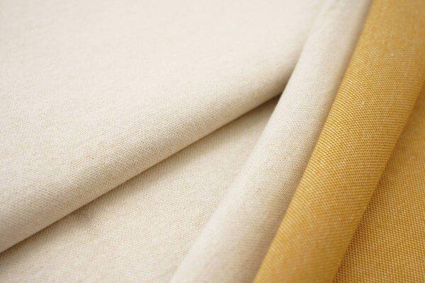Jacquard-Sweat Ben off white Uni mit off white und senf Rückseite