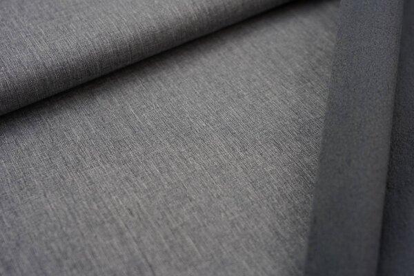 Softshell-Stoff uni hellgrau meliert / graue Innenseite