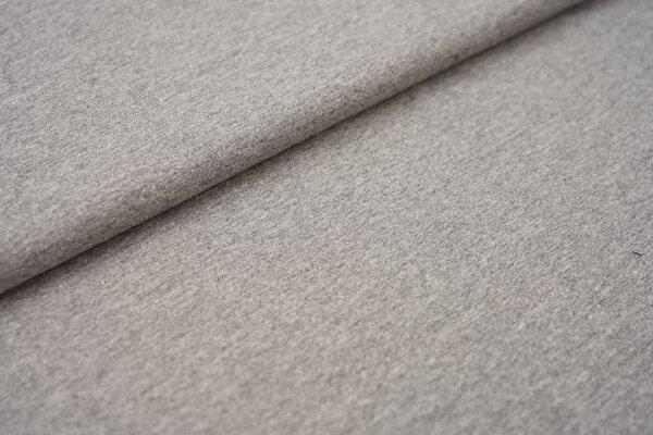Baumwoll-Jersey Recycelt einfarbig uni mittelgrau meliert