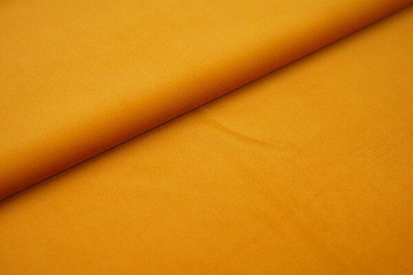 Samtiger Velours Dekostoff Velvet einfarbig uni senf ocker