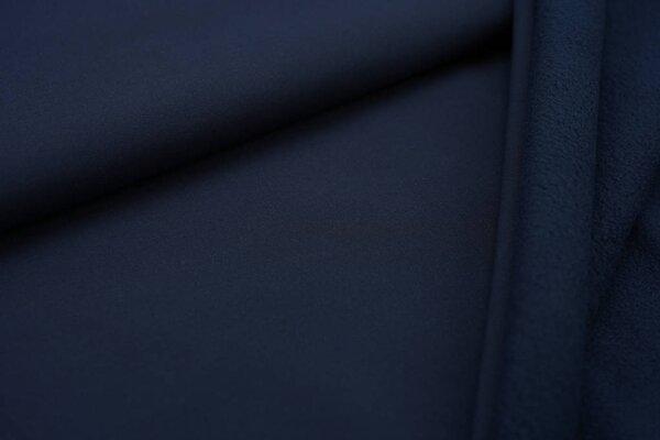 Softshell-Stoff uni navy blau