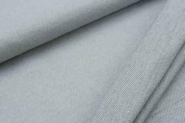 Jacquard-Sweat Ben hellgrau Uni mit hellgrau dunkelgrau und off white Rückseite