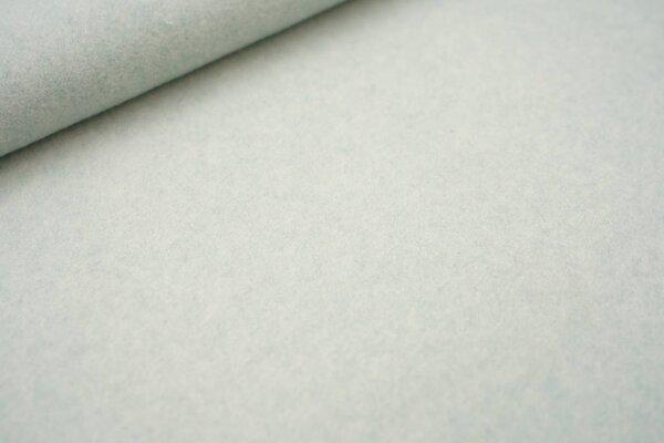 Dicker kuscheliger Baumwoll-Fleece Stoff uni mint meliert