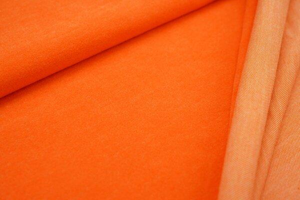 Kuschel Jacquard-Sweat Max Uni orange mit senf und off white