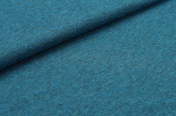 XXL T-Shirt Stoff LILLY petrol blau meliert