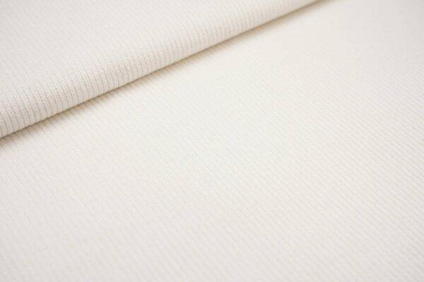 Elastischer Cordstoff uni creme off white Stretch-Cord