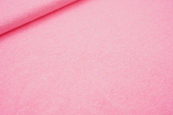 Neon Bündchen glatt Schlauchware neon pink rosa meliert