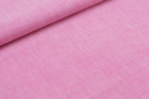 Baumwollstoff Baumwolle uni pink meliert