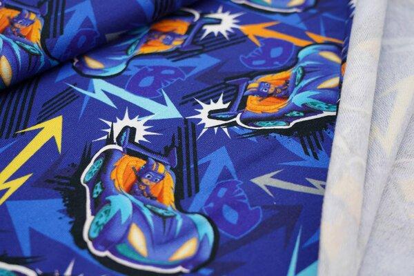 Baumwoll-Sweat Disney PJ Masks Pyjamahelden Catboy im Auto auf blau