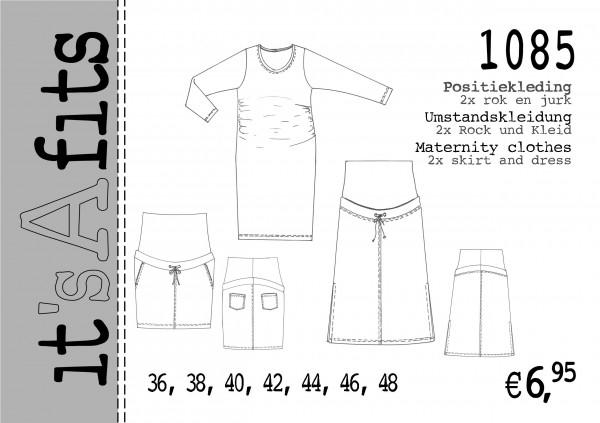 It\'s A Fits Schnittmuster Damen Umstandskleidung 2x Rock und Kleid ...