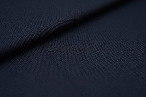 Canvas-Stoff Baumwoll Dekostoff einfarbig uni navy dunkelblau