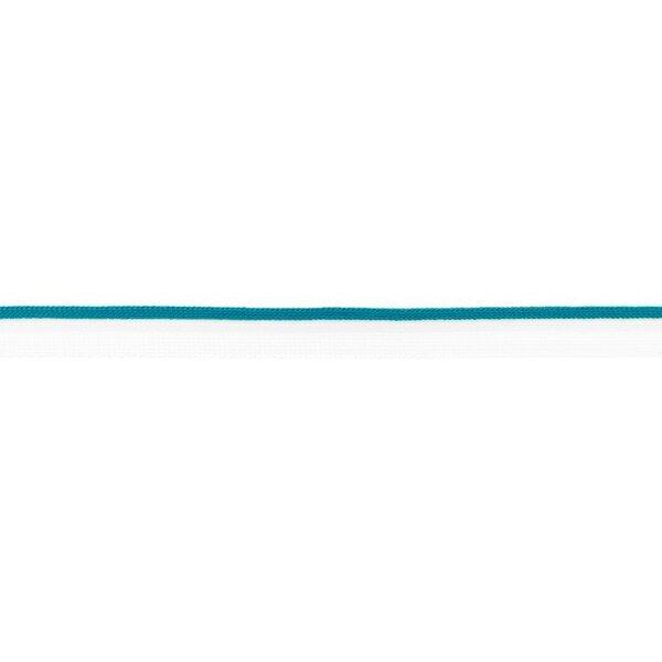 Duo Paspelband zweifarbige Streifen weiß / petrol