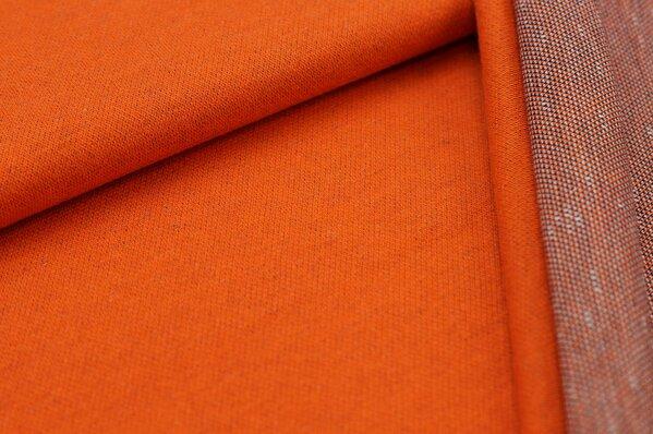 Jacquard-Sweat Ben orange Uni mit orange navy blau und off white Rückseite
